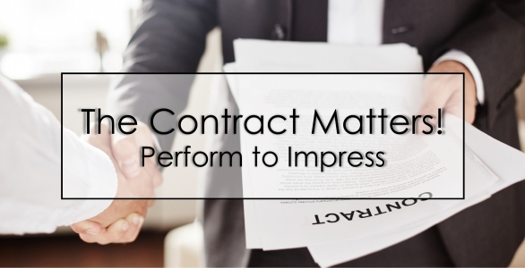The Contract Matters! Perform to Impress